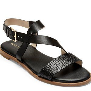 Cole Haan Black Leather Strapy Sandal